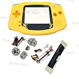Oulekai Maoyi Hot Yellow Housing Case w/Pikachu Plastic Lens For GBA Gameboy Advance Cover Shell With Rubber Pads