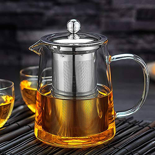 Glass Teapot Stovetop Save  OBOR Tea Kettle with Removable Food Grade Stainless Steel Infuser amp Lid for Blooming and Loose Leaf Tea Maker  32oz/950ml