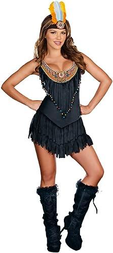 Sexy Native Beauty Fancy Dress Kostüm XL Schwarz