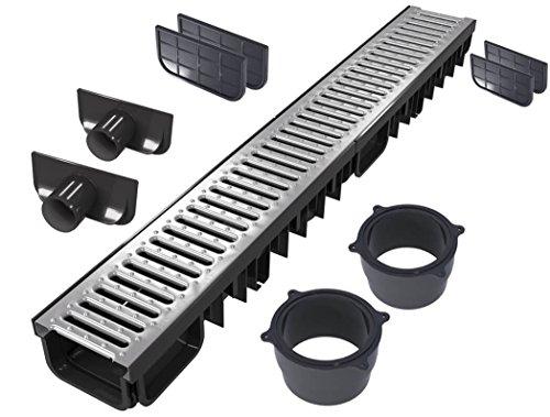 'S'lon Entwässerungsrinne Set 9 Meter | Verzinkt Klasse B125 | Typ 50 (Entwässerungsrinnen)