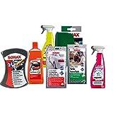 2X Schwamm + Shampoo + Wachstuch + INNENTUCH + FELGENREINIGER + INSEKTENENTFERNER