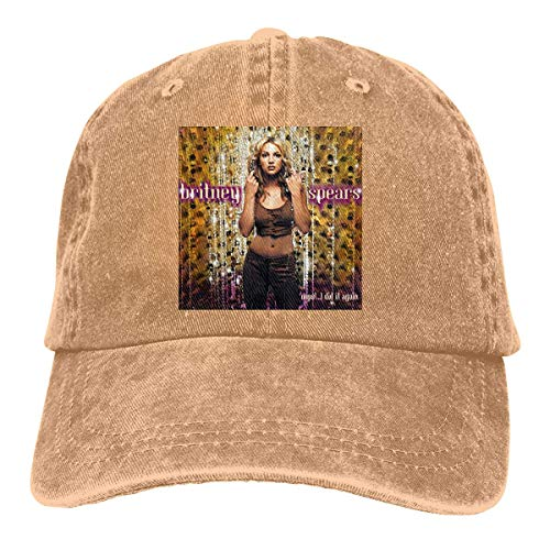 Dialog Britney Spears Cap Adult Verstellbare Sun Classic Washed Denim Caps für den Außenbereich