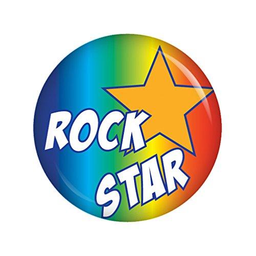 Kiwikatze® Baby - Rock Star Button Ansteckbutton 37mm für Wickeltasche oder Kinderwagen