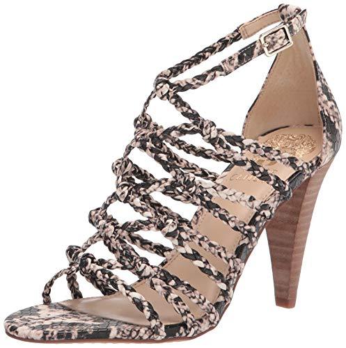 Vince Camuto Women's AMELLIS Heeled Sandal, Natural Multi, 7 UK