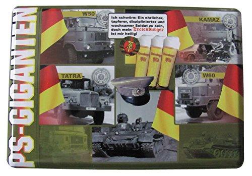 PS Giganten - Tretenburger Bier - IFA W50, IFA W60, Tatra & Kamaz - Blechpostkarte mit Umschlag 10 x 14 cm