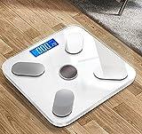 Escala de grasa corporal, báscula digital de baño con aplicación, báscula electrónica inteligente para adultos caseros, báscula de salud, báscula de peso, escala humana