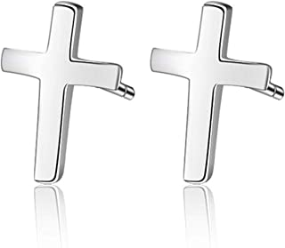 Bouet Viau 925 Silver Cross Jewelry, 925 Silver, 18K Gold Plated, 18K Rose Gold Plated Silver