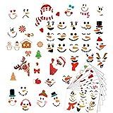 Pegatinas autoadhesivas para nevera con diseño de muñeco de nieve navideño, pegatinas de vinilo para bolsa de regalo, portátil, guitarra, maletas, monopatín, snowboard
