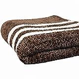 LOVINSUNSHINE Chenille Knitted Throw Blanket Chenille Knit Throw Blanket Chenille Couch Blanket Brown Chenille Blanket for Bed Knitted Throw Chenille Throw Blankets for Women 50 60 -