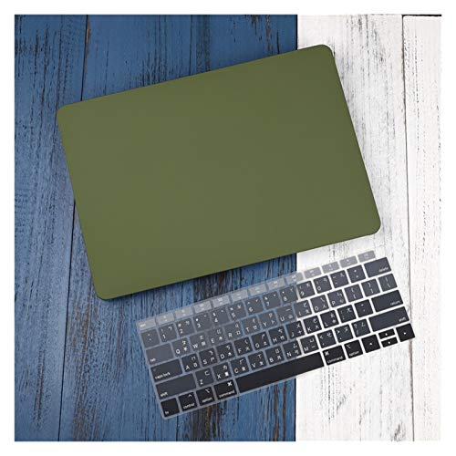 WSGYX Leather/Cloth Case for Macbook Air 13 A2338 M1 A2179 A2337 A1932 Pro 13 15 A2159 A1466 A1708 Hard Cover+Keyboard Cover (Color : Green, Size : Model A1398)
