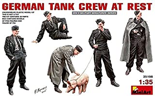 1/35 Germany rest in the German tank crew figure five bodies & pig one animal plastic model MA35198