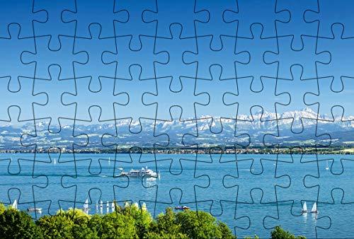 Puzzlepostkarte Bodensee 2: Motiv See mit Schiff (Kultur erleben im GMEINER-Verlag)