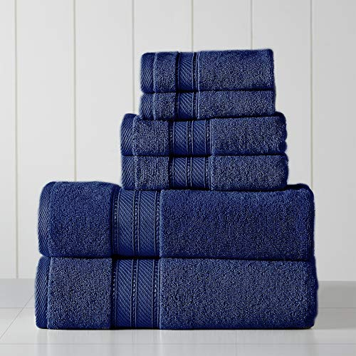 Amrapur Overseas 6-Piece SpunLoft Towel Set, Navy