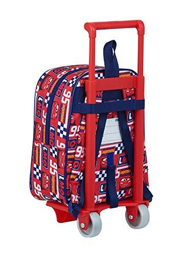 51HfqQx0GqL - Mochila Guardería Ruedas, Carro, Trolley Cars de safta 612011280, Multicolor