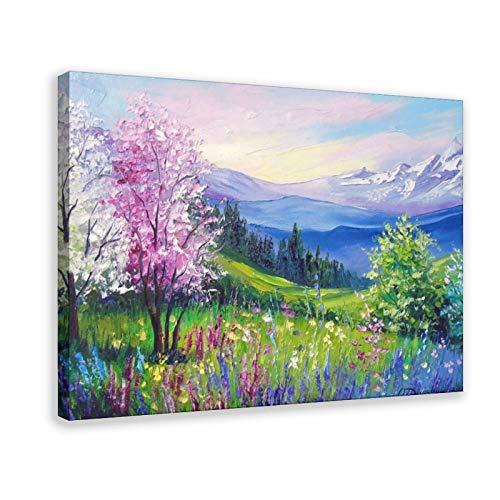 Poster sur toile Spring in The Alpes Décoration de chambre à coucher, de bureau, de salle de sport, 50 × 75 cm