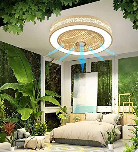 DLGGO Lámpara del ventilador con la iluminación de la lámpara LED regulable Ventilador de techo techo con iluminación y alejada de luz Metal Acrílico Silencio Ventilador de techo de la sala Habitación