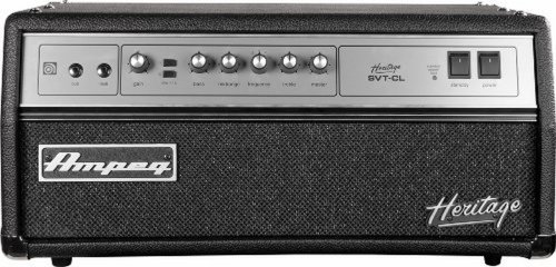 Great Features Of Ampeg Heritage HSVT-CL All-Tube Bass Amp Head,  Designed and assembled in USA, 300W head, Heritage color scheme