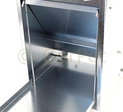 Hühner Geflügel Futterautomat mit Tritt Klappe Platte Futter Trog Spender Silo (Futterautomat 10 L) - 2
