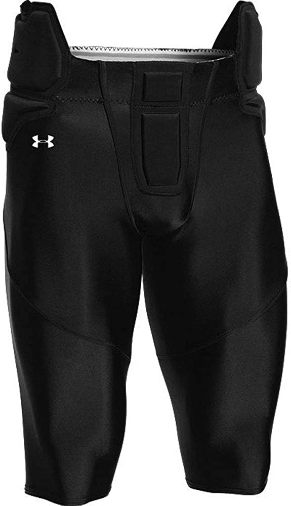 Under Armour Men's Integrated Football Pant (XX-Large, Black | White): Clothing
