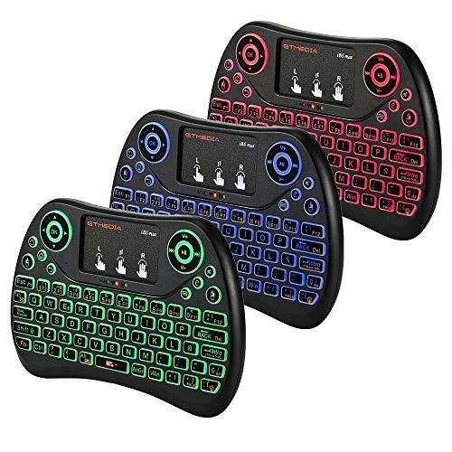 I8S 2.4G Mini teclado inalámbrico con retroiluminación del panel táctil,...