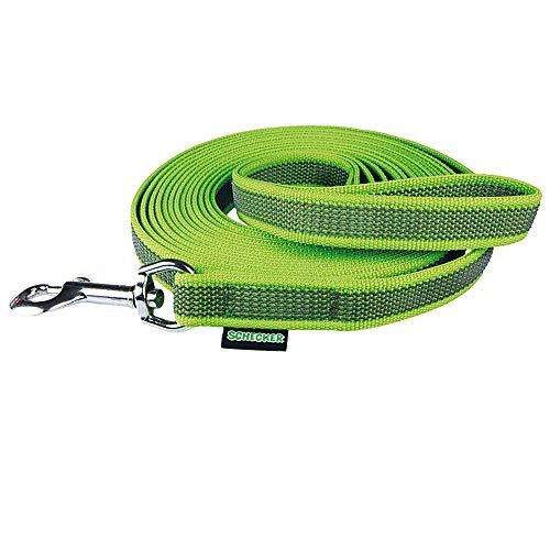 Schecker grün Grip Colour Rainbow Schleppleine mit Handschlaufe Länge: 10 m durch 24 eingearbeitete Gummi Filamente besonders rutschfest