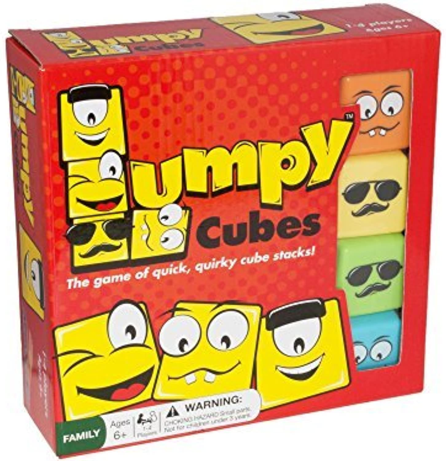 Lumpy Cubes  Cube Stacking Educational Family Game  Fun for Kids and Adults 6 Years and Up by RoosterFin