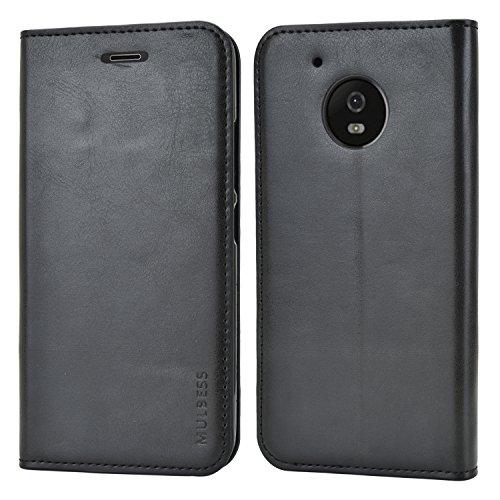 Preisvergleich Produktbild Mulbess Handyhülle für Motorola Moto G5 Hülle Leder,  Motorola Moto G5 Handy Hüllen,  Slim Flip Handytasche Schutzhülle für Motorola Moto G5 Case,  Schwarz