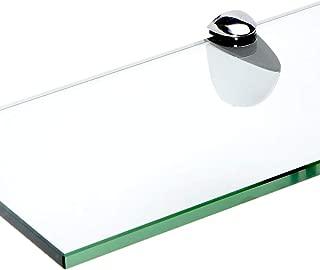 Floating Glass Bathroom Shelf Finish: Chrome, Size: 30