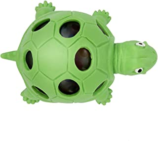 Squishy Stress Balls Toy Turtle Shape for Girls, Boys, or Adults - Colorful, Gel Water Beads Balls Inside - Promote Anxiety and Stress Relief - Promote Calm Focus and Play