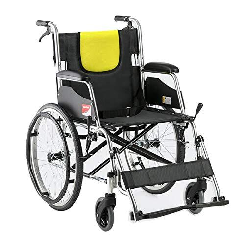 Premium rolstoel, lichte aluminium klapprofielstoel met Attendant remmen en beensteunen, 20 inch achterwiel