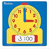 Learning Resources Write & Wipe Demonstration Clock, Easy-to-Read, 12' Square Clock, Ages 6+