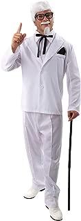 Mens Colonel Sanders Suit KFC Food Fancy Dress Costume Outfit