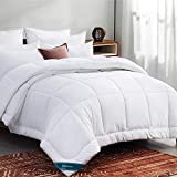 Bedsure Queen Comforter Duvet Insert White - Quilted Bedding Comforters for Queen Bed with Corner Tabs