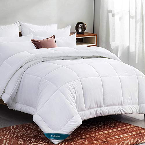 Bedsure King Size Comforter Duvet Insert White - Quilted Bedding Comforters for King Bed with Corner Tabs