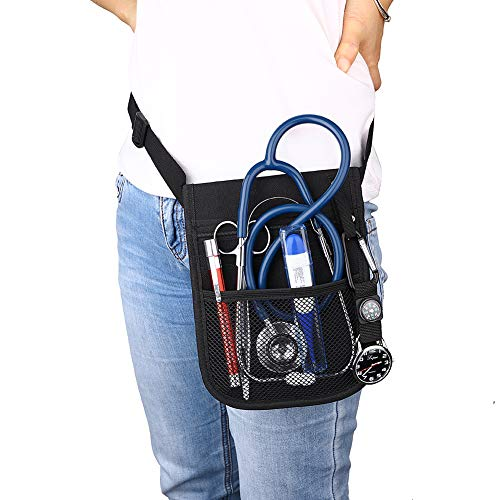 CENGYIUK - Marsupio da infermiera, con tasche e scomparti multipli, per infermieri, veterinari, con cintura regolabile, organizer per tasca clinica
