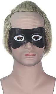 Miss U Hair Short Mens Bald Wig Blonde Cosplay Costume Wig Halloween for Men Boys with Black Mask