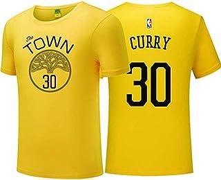 Shelfin Jersey De Hombre Camiseta NBA para Hombre Camiseta De Manga Corta De Baloncesto Golden State Warrior Camiseta De Entrenamiento con Cuello Redondo Versión Urbana De Sudadera Respirable T-Shirt