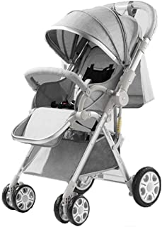 Compact Stroller Fold Lightweight, Pushchair Buggy, with Cup Holder and Meal Plate, Two Way, with One Hand Fold, with Reclining Backrest,Suitable from Birth to 3 years old(0-25kg)