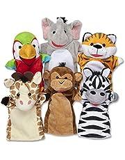 Melissa & Doug Ręcznie dla przyjaciół Safari   laleczki i teatry   miękka zabawka   3+   prezent dla chłopca lub dziewczyny