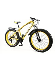 "MYTNN Fatbike VTT 26"" 21 vitesses Shimano gros pneus Mountainbike Gold 47 cm RH Snow Bike"