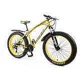 MYTNN Bicicleta de montaña Tipo fatbike de 26 Pulgadas, 21 velocidades Shimano, con amortiguación Completa, Llantas Gruesas, Altura del Cuadro de 47 cm, Modelo Nuevo de 2018, Color Naranja