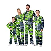 Officially licensed Team logo accents throughout Team-colored, blocked design with winter-themed pattern Model number: NFL-BUSYBLOCK-PAJAMA
