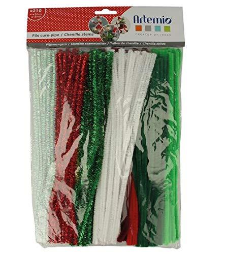 Artemio 22020009 Set de 210 Fil Chenille, Fer, Multicolore, 25 x 3 x 42 cm