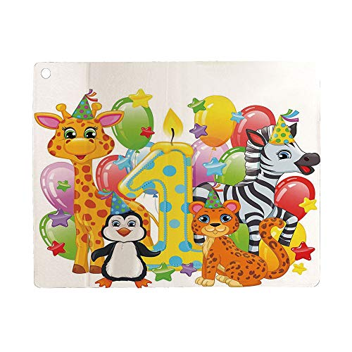 Bumina 1st Birthday Decorations Case for iPad 9.7 2018 2017(6th Gen, 5th Gen)/iPad Air 2/iPad Air,PU Leather Case with Stand Function/Auto Sleep Wake Up Multicolor