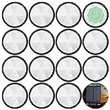 ShiSheng Reflectores Adhesivos para Remolques 15 Piezas Catadioptrico Redondo para Coche, Universal Circulares Reflectores Blancos para Vehículo Moto Carvana Camiones RV
