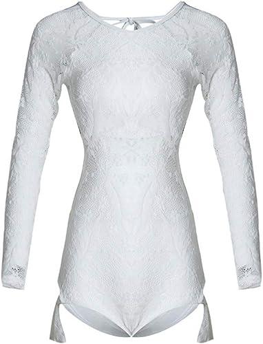 ZXCC Maillot de Bain Femme en Dentelle, Triangle Jointif réuni pour Couvrir Le Ventre Maillot de Bain Sexy (Couleur  Blanc) (Couleur   Blanc, Taille   M)