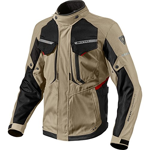 Chaqueta de motociclismo Rev It Safari 2, hombre mujer, FJT204-5220, Sand Black, X-Large