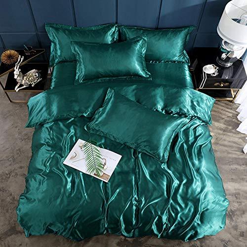 Bedding-LZ Copripiumino Matrimoniale Cotone,Lavare la Seta del Ghiaccio è la lamiera di Manica Quattro Set di rifornimenti per Letti a Colori Solidi-G_1,5 m di Letto (4 Pezzi) (20 Set di 200 * 230)