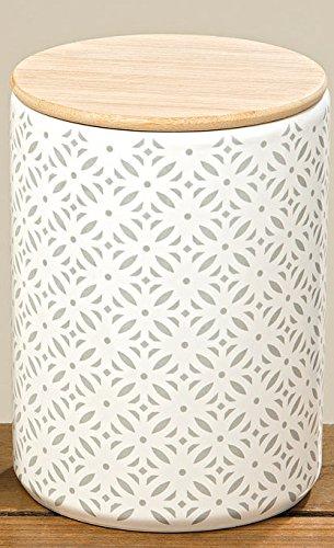Bloominghome Vorratsdose mit Holzdeckel Mikado 16 cm hoch weiß Aufbewahrungsdose