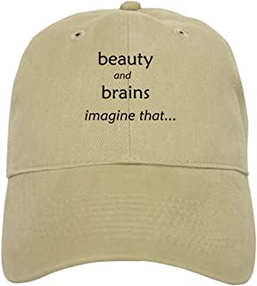 CafePress Beauty and Brains Baseball Cap